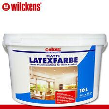 Wilckens 10 l Latexfarbe matt Weiß Dispersionsfarbe innen & außen spritzarm