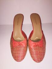 Enzo Angiolini Womens Woven Bow Accent Mules Sz 9M