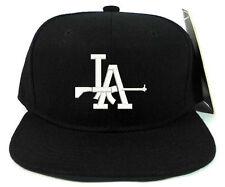 LA DODGERS WITH SHOT GUN LOGO Black Snapback Cap Hat Adjustable one size