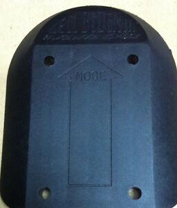 Vintage black 1989 Santa Cruz NHS skateboard Cell Block nose pads