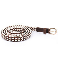 WEEKEND MAX MARA Belt Brown & White Candela Size Medium BG 474