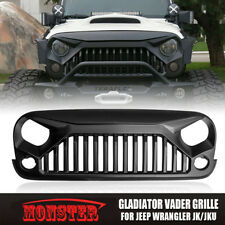 Jeep Wrangler Front Matte Black Vader Gladiator Grill Grille Upgrade Angry Bird