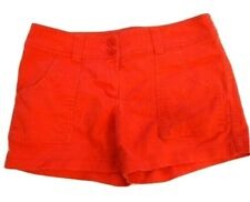 Dalia Collection Shorts Womens Size 6 Modern Fit Orange Casual