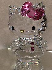 SWAROVSKI HELLO KITTY WITH PINK BOW 1096877 CAT BNIB + CARE CERT