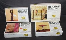 Four! BOXED The House Of Miniatures DOLLHOUSE FURNITURE KITS