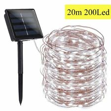Outdoor Solar Fairy String Lights 200 LED Copper Wire Waterproof Garden Decor