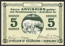 More details for greenland; state note. 5 kroner. (1913). no; 43342. (pick; 14a). au-unc.