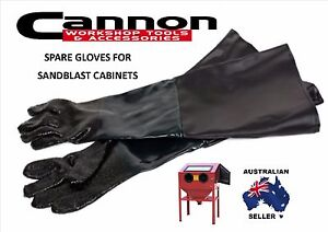 "7"" SPARE GLOVES FOR SANDBLAST CABINET GRIT BLAST SAND BLAST TANK LARGE FREE SHIP"