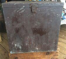 Vintage Primitive Style Large Metal Ballot Box, Eagle Lock Co . , Political