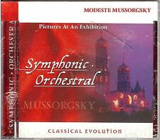 NEW/SEALED MODESTE MUSSORGSKY PICTURES AT AN EXHIBITION SYMPHONIC ORCHESTRAL CD