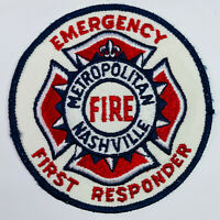 Nashville Metropolitan Fire Emergency First Responder Tennessee Patch (C5-A)