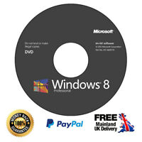 Windows 8.1 Pro Installation Disc + Genuine Licence Key - 64/32 bit (CD/DVD)