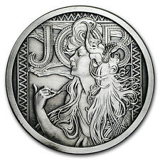 5 oz Silver Antique Round Mucha Collection (JOB) - SKU #117704