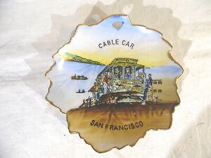 Vintage Mini Plate Cable Car San Francisco