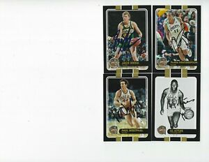 2019 Panini Basketball Hall of Fame 7 card Lot all signed at Enshrinement