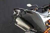 EVOTECH KIT PORTATARGA RECLINABILE REGOLABILE KTM 690 SMC R 2019 + LUCE LED