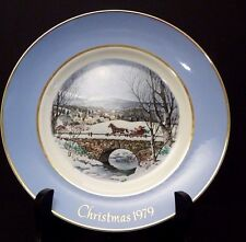 "Avon 1979 Dashing Through the Snow Collector Porcelain 8 5/8"" Plate Original Box"