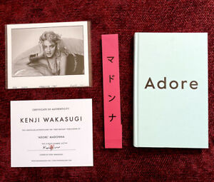 MADONNA ADORE STRICT 100 LIMITED TOKYO BOOK & SIGNED PHOTO w/ PROMO COA KENJI JP