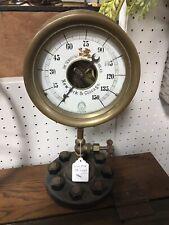 """Vintage Shaeffer Budenberg Steam Gauge W/ Stand 15""""-10064"""