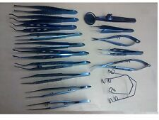 TITANIUM BASIC EYE MICRO SURGERY OPHTHALMIC  INSTRUMENTS 17 pieces