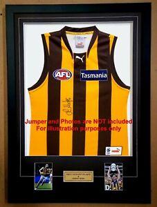 """DIY Boxed Sports Jumper Frame 4x6"""" Portrait Photo for AFL/NRL/Soccer Jerseys."""