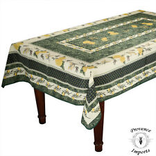 Menton Green French Provence Rectangular Tablecloth