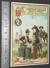 CHROMO 1900-1910 CHOCOLAT POULAIN ITALIE MEDAILLE INDEPENDANCE VICTOR-EMMANUEL 2