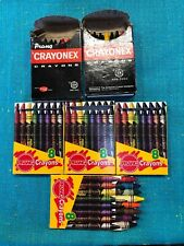 LOT OF 6 VTG Dixon Prang Crayons 8 & 16 Pack