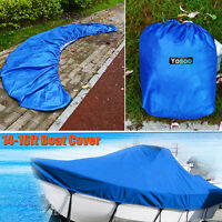 14-16ft Waterproof Parts Fish Ski V-Hull UV Boat Speedboat Gear Cover With Bag h