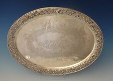Tiffany & Co. Sterling Silver Tray Footed with Acid Etched Cherubs (#0152)