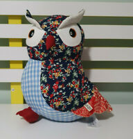 COTTON ON KIDS OWL PLUSH TOY STUFFED ANIMAL PATTERNED 25CM TALL