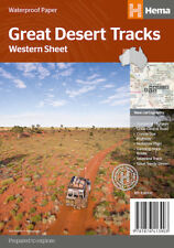 Hema Great Desert Tracks Western Sheet Map *FREE SHIPPING - NEW*