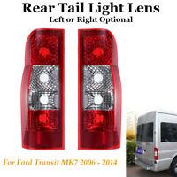 Rear Back Tail Light Lens Lamp Left / Right For Ford Transit MK7 2006 - 2014 Van