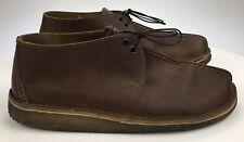 Mens 10.5 M Clarks Originals Desert Trek 36449 Beeswax Brown Leather Ankle Boots