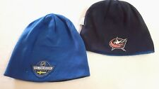COLUMBUS BLUE JACKETS NHL PREMIERE SERIES CUFFLESS REV KNIT BEANIE HAT SKI  CAP 4a108503c68c