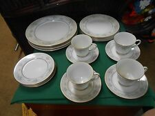 "NORITAKE ""Lisle""...20 pieces Service for 4...Dinner-Bread-Soup-Cup and Saucers"