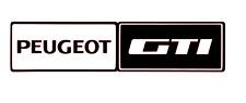 Peugeot GTI autocollant Bavettes 106 205 206 208 208 1.9 1.6 mi-16 220 mm x 4