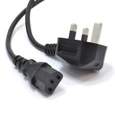 DEVOLTA 2m Long IEC Kettle Lead Power Cable 3 Pin UK Plug PC Monitor C13 Cord