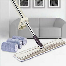 Lazy Hands-Free Double-Side Clean Flat Mop Washable Floor Dust Cleaning Tool Hot