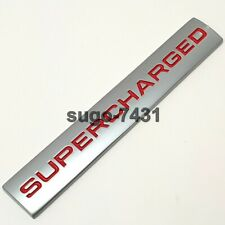 Car Stickers Metal SUPERCHARGED Styling Decal Emblem Badge Sticker Auto Red