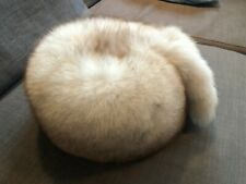 Unisex Silver Fox Fur Hat Suburb Quality