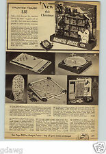 1962 PAPER AD Game Haunted House Ideal Dingaroo Bagatelle Marx Sonar Sub Hunt