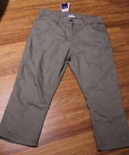 3/4 Length Cotton Blend Capris, Cropped Pants for Women