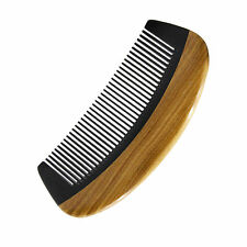 Wood Pocket Comb Wholesale Handmade Horn Fine Tooth Beard Hair Comb 10pc in Bulk