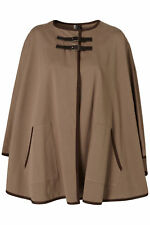 TOPSHOP PREMIUM OVERSIZED DOUBLE BUCKLE TRENCH CAPE PONCHO JACKET COAT