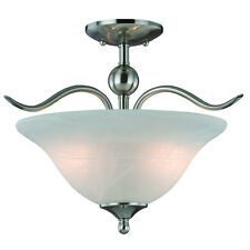 Bar Light Fixture #104104 Satin Nickel 2 Light Kitchen