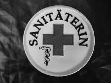 Sanitäterin Rundemblem Emblem  Aufnäher  2. Variante