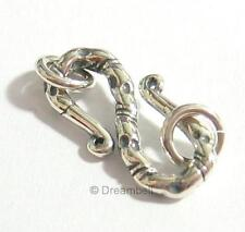 1x Bali Sterling Silver S Hook Clasp 20mm Jump Ring 6mm sc379B
