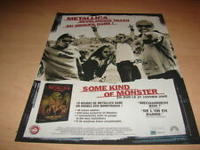 METALLICA - SOME KIND OF MONSTER!!!! PUBLICITE / ADVERT