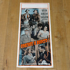 FORZATE IL BLOCCO locandina poster Stand by for Action Robert Taylor Donlevy H30